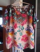 Bluzeczka w kwiaty oversize od L do XXL