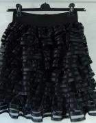 H&M Spódnica z FALBANKAMI 36 S