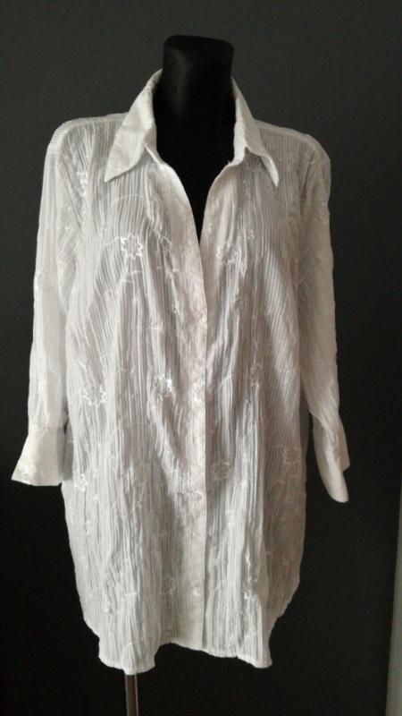 Koszule Lekko kreszowana koszula w większym rozmiarze 28 56