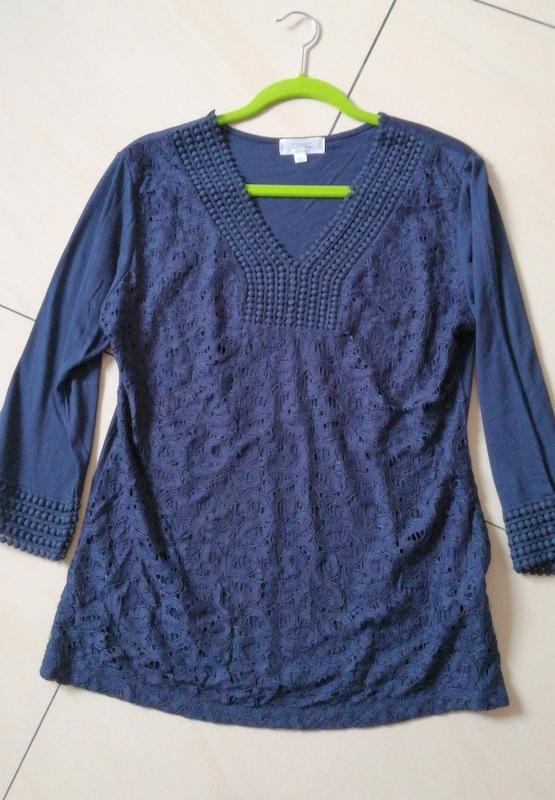 Bluzki Granatowa bluzka 12 40