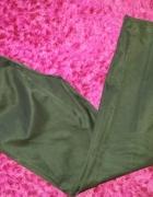 eleganckie spodnie srebrne zipy...