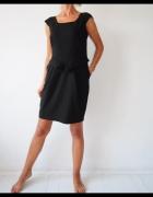 sukienka Next czarna ołówkowa kieszenie