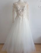Bajkowa zjawiskowa suknia ślubna księżniczka XS S