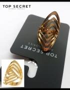 Duży słoty pierścionek M L XL