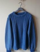 NOWY męski sweter HM warkocz L