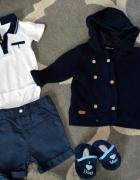 Mega paka zestaw dla chłopca 68 74 80 body spodnie sweterki...