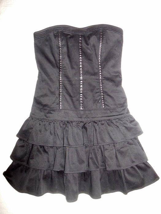 sukienka gorsetowa z falbanami...
