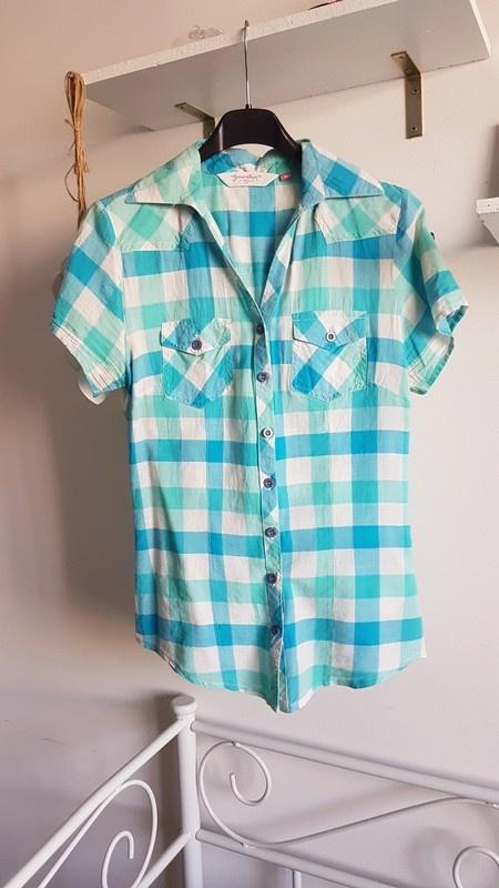 New Look koszula krata baby blue