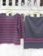 Garsonka L XL komplet spódnica i bluzka