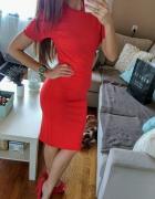 Sukienka czerwona dopasowana bandażowa sexy xs