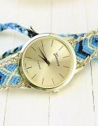 zegarek złoty bransoletka pleciona łańcuszek hit...