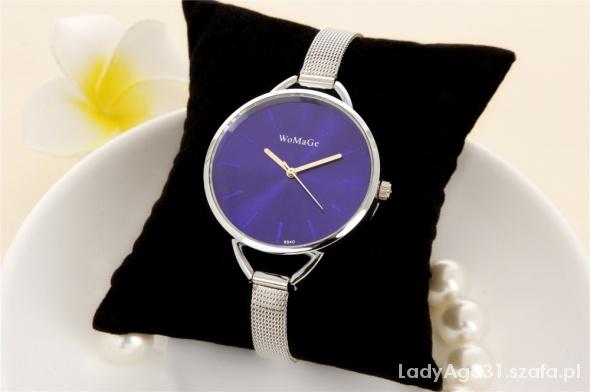 zegarek womage srebrny