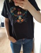 czarna koszulka z tygrysem oversize