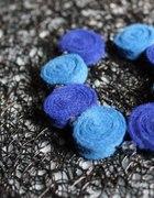 Bransoletka filc niebieska