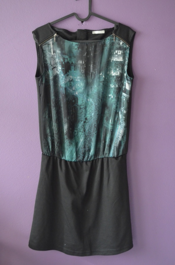 3d9281ff4c sukienka czarna zielona 34 36 XS S orsay w Suknie i sukienki - Szafa.pl
