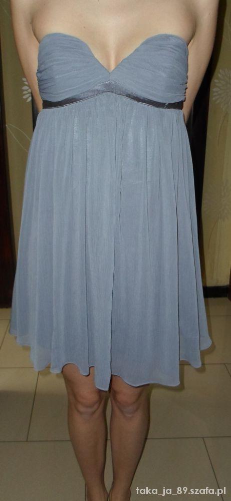 szara sukienka New Look 8 36 jak nowa