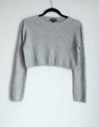 Topshop szary dzianinowy sweterek...