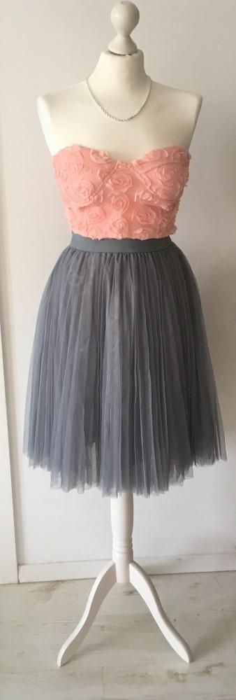 Komplet tiulowa spódnica i gorset kostium suknia 36 S dwuczęściowy komplet