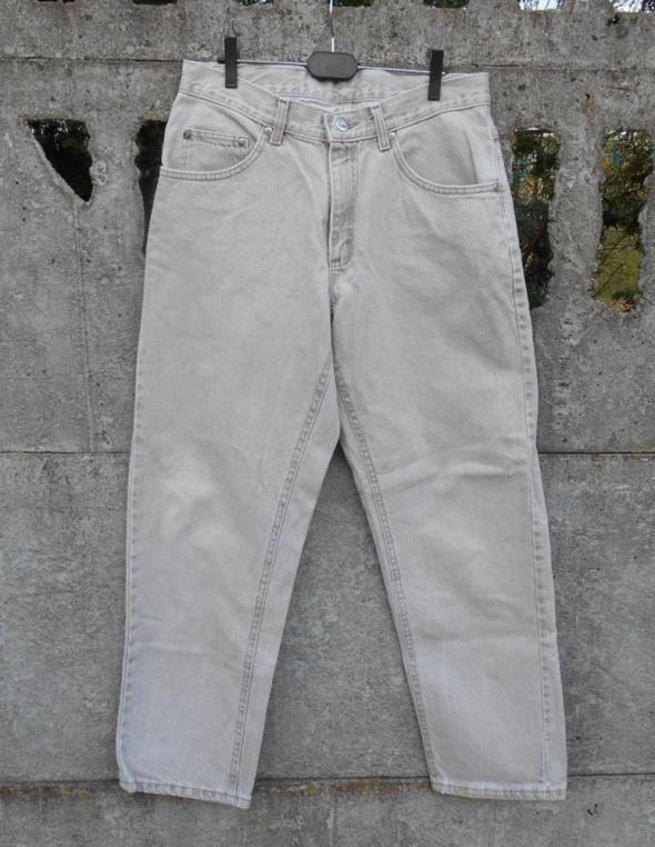 męskie Spodnie LEE beżowe dżinsy S oryginał...