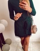 Sukienka Damska zielona S