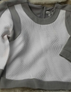 Bluza szara biała river island xs 34 zip nowa