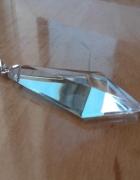 Diuża srebrna zawieszka kryształ obelisk