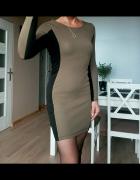 H&M sukienka khaki zip