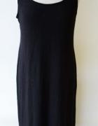 Sukienka Maxi Long Czarna H&M Basic L 40 Czerń