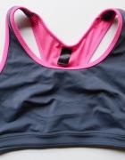 Stanik Sportowy Szary Różowy 38 40 M L Fitness