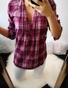 Koszula damska krata róż uniwersalna