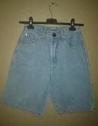 Vintage retro jeansowe szorty spodenki wysoki stan 34 36...
