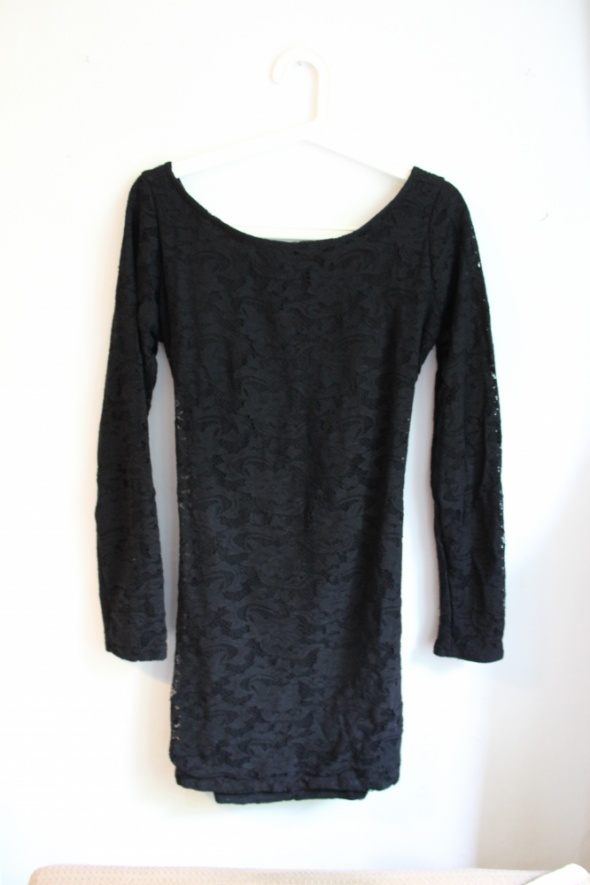 Suknie i sukienki Koronkowa czarna sukienka