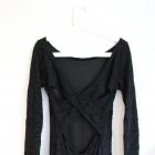 Koronkowa czarna sukienka