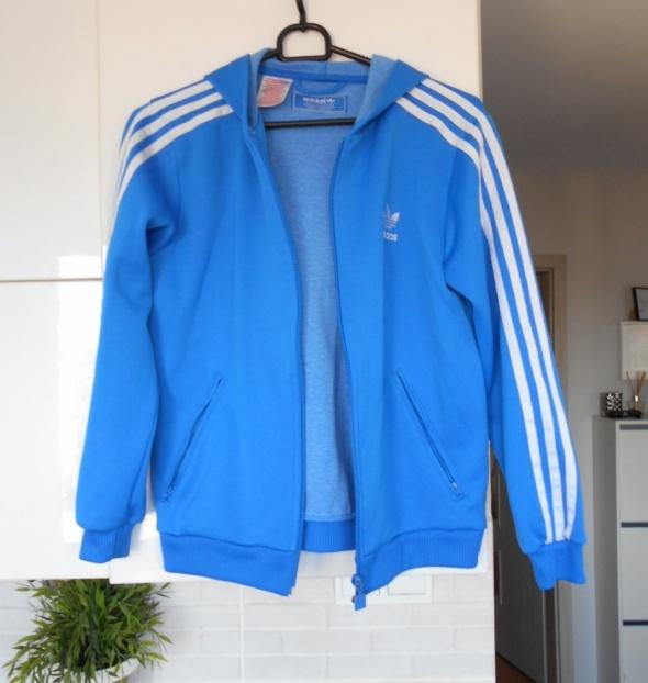 Adidas originals niebieska bluza dresowa paski w Bluzy