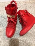 Sneakersy Koturny Czerwone 39...
