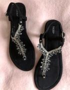 Sandałki Nowe Czarne 39