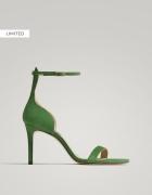 Massimo Dutti piękne sandały zielone 36
