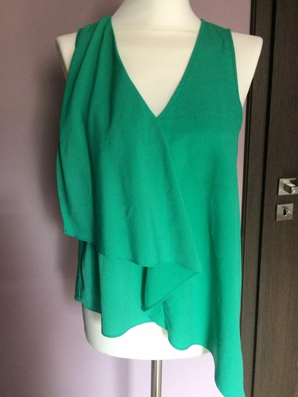 Zielona bluzka asymetryczna HM