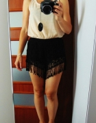 New Look koronkowe szorty z frędzlami