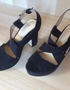 H&M piękne czarne sandały sylwester karnawał...