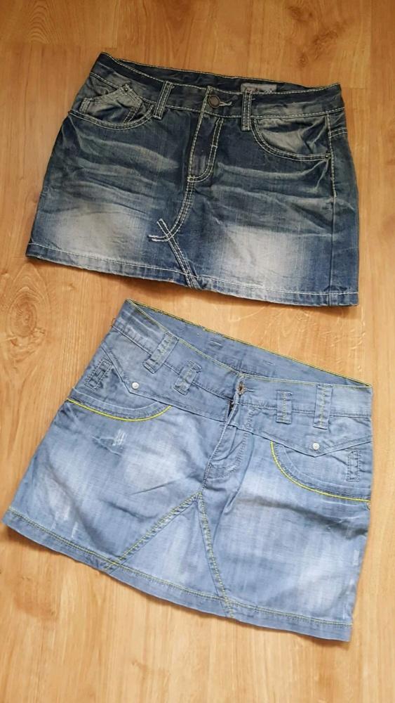Spódnice Dwie Spódniczki Jeans S 36