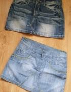 Dwie Spódniczki Jeans S 36