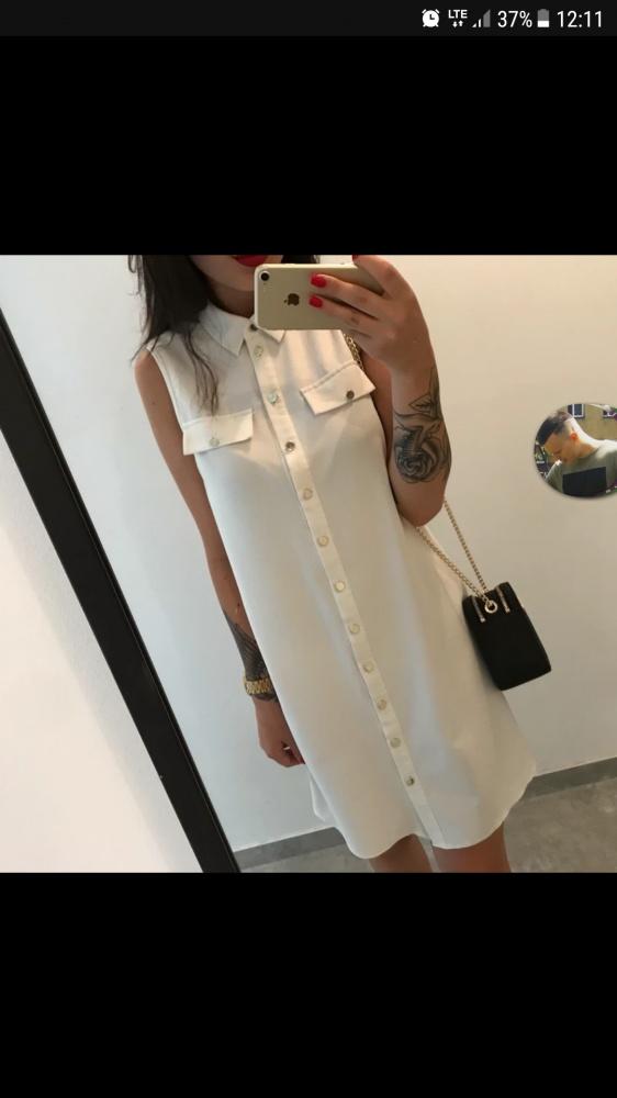 Sukienka koszulowa biała...