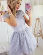 koronkowa sukienka SZARA...