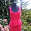 Czerwień sukienka z baskinką