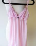 Koszula Nocna Sexy Różowa Pudrowy Róż M 38 Cubus