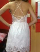 Koronkowa sukienka lato bez pleców...