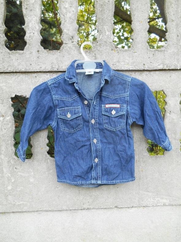 jeansowa Koszula 86 na 18 m chłopięca...