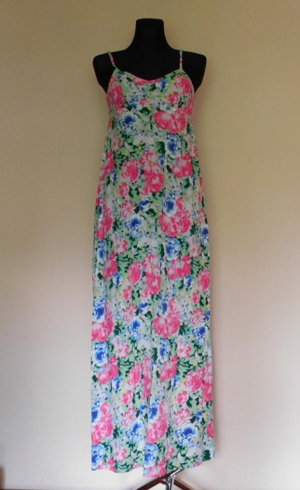 H&M sukienka długa maxi kwiaty 36...