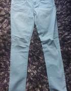 Spodnie rurki niebieskie damskie dziewczęce